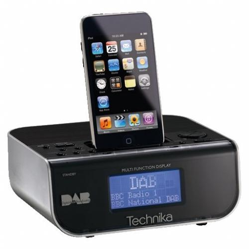 technika dab alarm radio with dock for ipod refurb delivered ebay tesco outlet. Black Bedroom Furniture Sets. Home Design Ideas