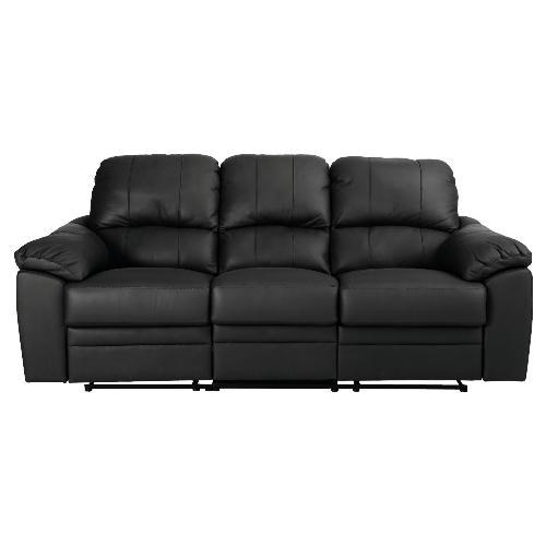 Valencia large leather recliner sofa 137 tesco for Leather sofa deals