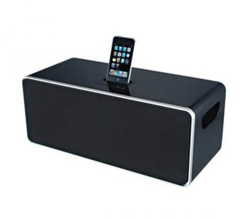 iwantit ipod8010 ipod iphone dock and speaker system. Black Bedroom Furniture Sets. Home Design Ideas