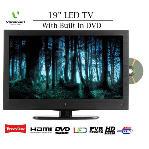 """Portable Tv With Freeview And Dvd Portable Toddler Travel Bed Portable Public Urinal Portable Satellite Tv Near Me: Videocon V1922 LED 19"""" HD Ready Tv/Dvd/freeview Combi With"""