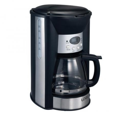 LOGIK L12FCB10 Coffee Machine - Black ?14.99 + ?10 Free Voucher @ Currys - HotUKDeals
