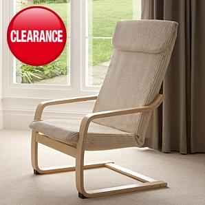 Adult relaxer chair beige jumbo cord similar ikea poang was 49 now asda - Chairs similar to poang ...