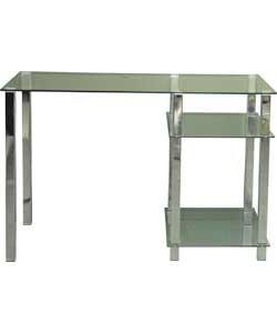 noir clear desk metal glass argos was 169. Black Bedroom Furniture Sets. Home Design Ideas