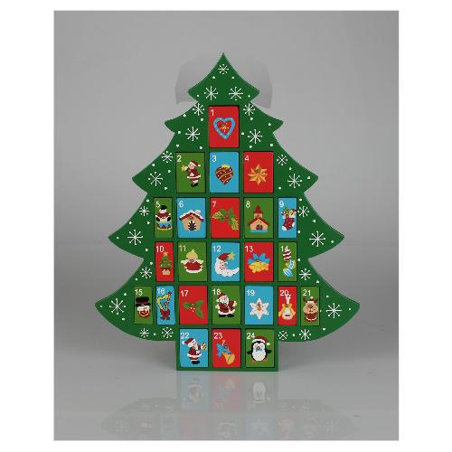 wooden christmas tree advent calendar 15 tesco direct. Black Bedroom Furniture Sets. Home Design Ideas