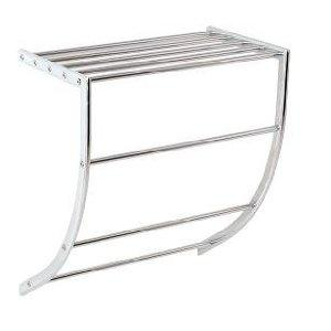 Bathroom Towel Holder Shelf Caddy Rack In Chrome And Steel Rrp 15 Home Store More