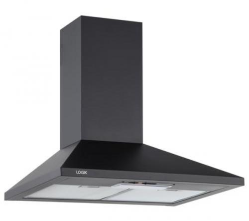 logik black cooker hood was now delivered. Black Bedroom Furniture Sets. Home Design Ideas