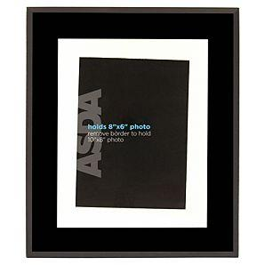 asda black or plum glass photo frame 10x8 inch was 6. Black Bedroom Furniture Sets. Home Design Ideas