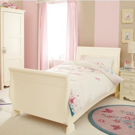 Girls single white sleigh bed from Aspace £175 (+£45 ...