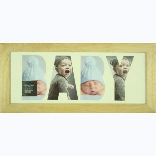 light wood collage photo frame was 8 now asda. Black Bedroom Furniture Sets. Home Design Ideas