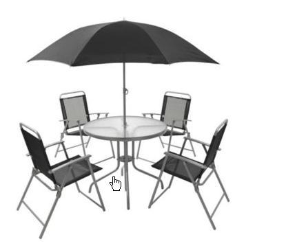 Blooma 6 piece garden furniture set b q hotukdeals for Garden furniture deals