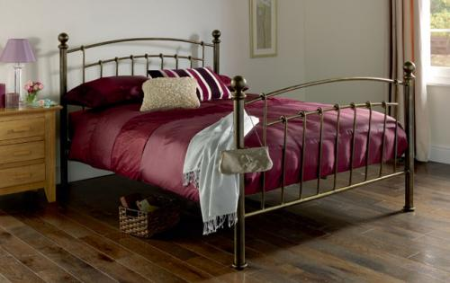 Homebase Garden Daybed : Iceland wrought iron double bed frame antique brass