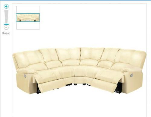 Diego leather recliner corner sofa group ivory for Leather sofa deals