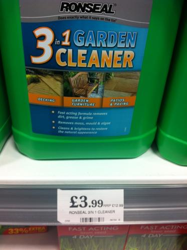 Home Bargains Ronseal 5litre 3 In 1 Garden Cleaner Decking Furniture Patios Hotukdeals