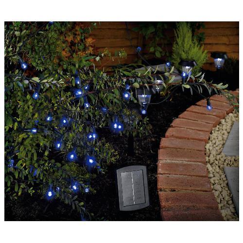 50 berry blue led solar line light tesco hotukdeals. Black Bedroom Furniture Sets. Home Design Ideas