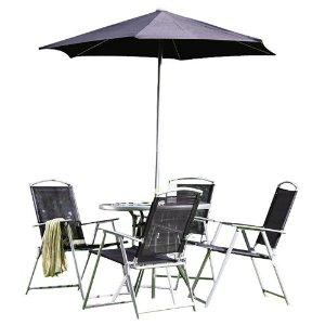 Garden furniture set includes round table 4 folding for Garden furniture set deals