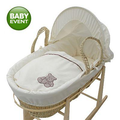 kinder valley tiny ted moses basket asda instore. Black Bedroom Furniture Sets. Home Design Ideas