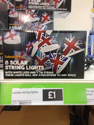 8 Solar String Lights - Union Flag - ?1 @ Sainsburys (Instore) - HotUKDeals