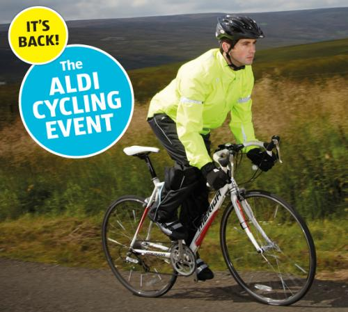 aldi cycling specials from thursday 27th plus 5 off. Black Bedroom Furniture Sets. Home Design Ideas