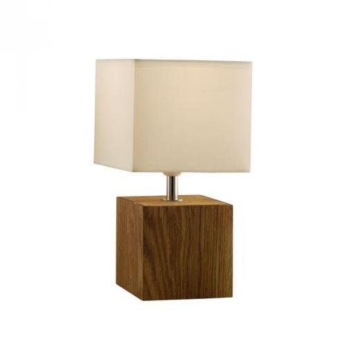 2 x asda light wood square table lamps light or dark wood asda dir. Black Bedroom Furniture Sets. Home Design Ideas