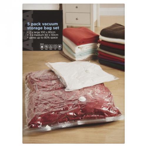 asda vacuum storage bags 5 each pkt or 2 pkts for 8. Black Bedroom Furniture Sets. Home Design Ideas