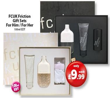 FCUK Friction 100ml Gift Set Mens U0026 Ladies U00a39.99 @ Savers - HotUKDeals
