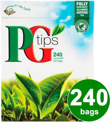 pg tips pyramid tea bags 240 per pack 750g now. Black Bedroom Furniture Sets. Home Design Ideas