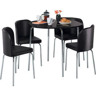 Hygena Amparo Black Dining Table and 4 Black Chairs £108 ...