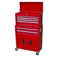 halfords 6 drawer combo tool chest with doors 45 halfords. Black Bedroom Furniture Sets. Home Design Ideas