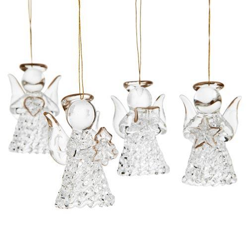 4 Pack Glass Angel Xmas Tree Decorations £1 Instore