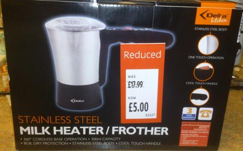 how to clean aldi milk frother