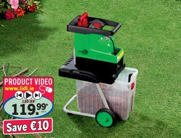 florabest electric garden shredder 30 lidl hotukdeals. Black Bedroom Furniture Sets. Home Design Ideas