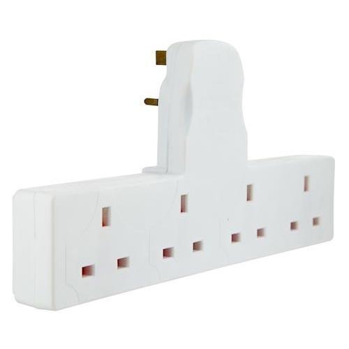 4 way extension plug poundland hotukdeals. Black Bedroom Furniture Sets. Home Design Ideas