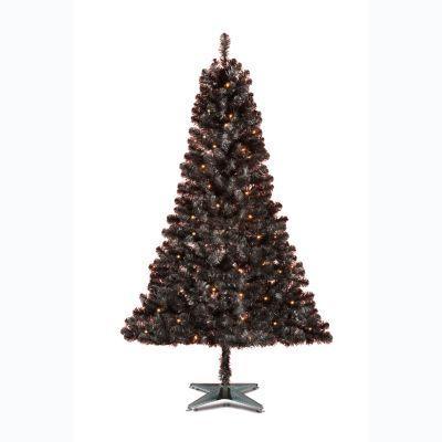 asda 6ft pre lit black christmas tree instore. Black Bedroom Furniture Sets. Home Design Ideas