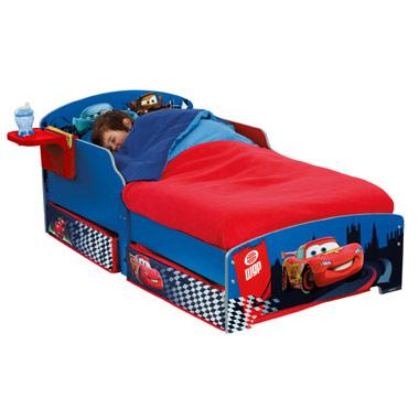 cars 2 toddler bed with drawers and cup holder. Black Bedroom Furniture Sets. Home Design Ideas