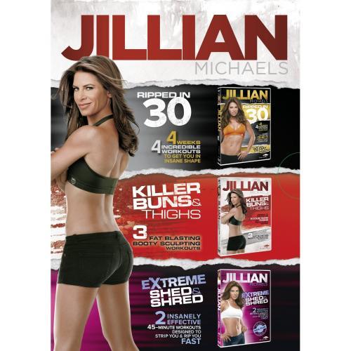 Jillian Michaels Triple Dvd Boxed Set Feat Ripped In 30