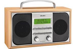 bush arden wooden dab radio silver was argos ebay outlet hotukdeals. Black Bedroom Furniture Sets. Home Design Ideas