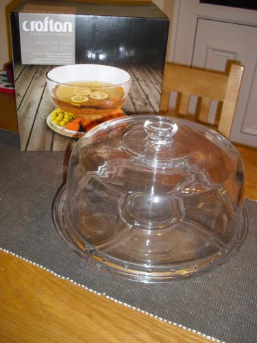 Glass cake stand at aldi leicester meridian for Glas handtuchhalter aldi