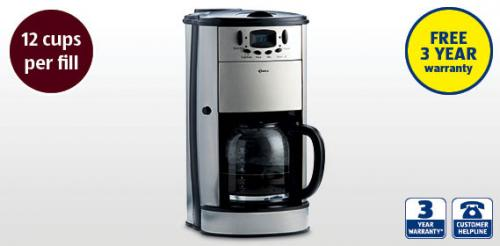 Delta High Living Coffee Maker With Grinder : Coffee Maker With Grinder ?39.99 @ Aldi - HotUKDeals