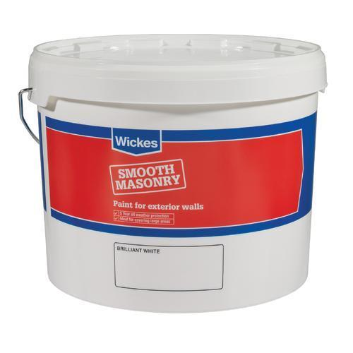 10 L Smooth White Masonry Paint For At Wickes Hotukdeals