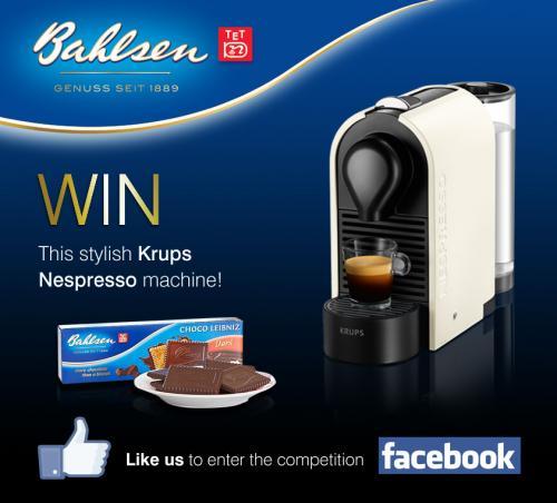 Win an Nespresso Krups coffee maker@ Bahlsen Biscuits/Facebook - HotUKDeals