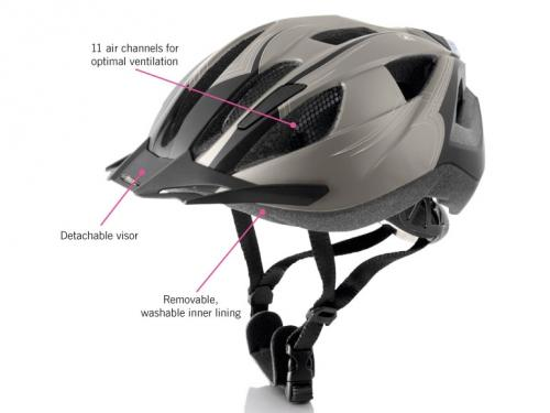 adults 39 cycling helmet with rear light from 21st. Black Bedroom Furniture Sets. Home Design Ideas