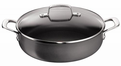 tefal by jamie oliver 30 cm hard anodised shallow pan with. Black Bedroom Furniture Sets. Home Design Ideas