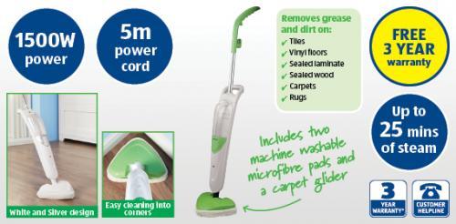 kogan 5 in 1 steam mop instructions