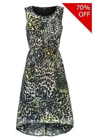 dipped hem animal dress 163 5 00 tesco clothing hotukdeals