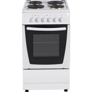 bush e50s single electric cooker white. Black Bedroom Furniture Sets. Home Design Ideas
