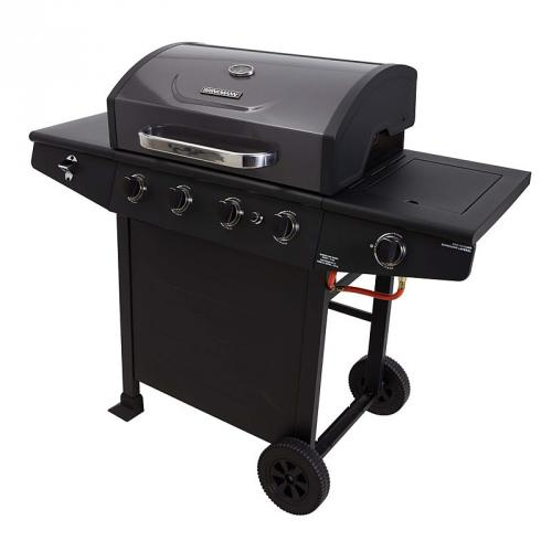 asda brinkmann 4 burner side burner gas bbq 149. Black Bedroom Furniture Sets. Home Design Ideas