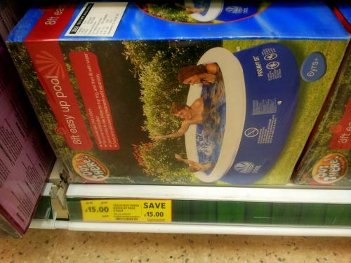 8ft quick up paddling pool 15 in peterborough tesco for Paddling pools deals