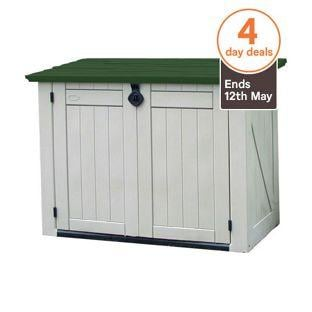 Keter store it out xl garden storage unit for Garden shed homebase