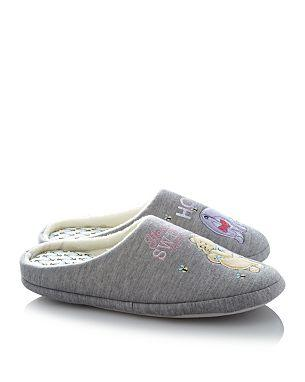 winnie the pooh eeyore slippers women 39 s sizes reduced. Black Bedroom Furniture Sets. Home Design Ideas