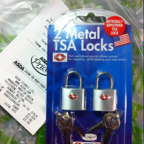 tsa suitcase padlock pack of 2 5 asda instore hotukdeals. Black Bedroom Furniture Sets. Home Design Ideas